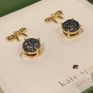Kate Spade! Multi Glitter Bow Stud Boxed Set